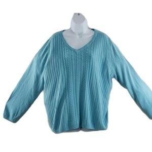 Allison Daley plus sz II v-neck sweater
